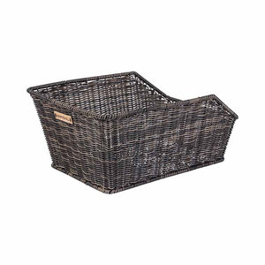 Basil Cento Rattan Look - bicycle basket - rear - brown