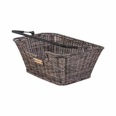 Basil Capri Rattan Look - bicycle basket - rear - brown