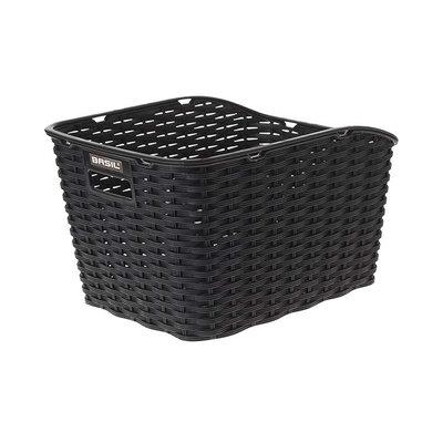 Basil Weave WP - bicycle basket - rear - black