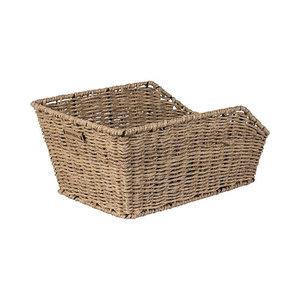 Basil Cento Rattan Look - bicycle basket - rear - brown