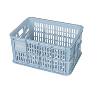 Basil Crate S - Fahrradkiste -  25 Liter - silver cloud