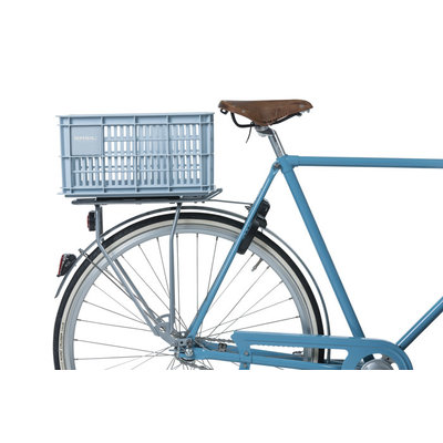 Basil Crate S - bicycle crate -  25 liter - silver cloud