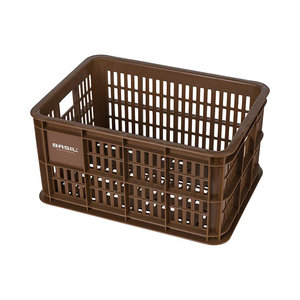 Crate S - bicycle crate - brown