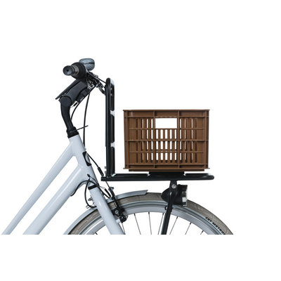 Basil Crate S - bicycle crate -  25 liter - saddle brown