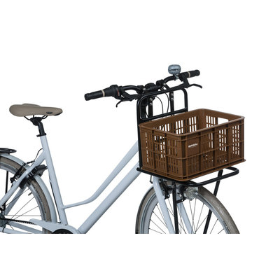 Basil Crate S - fietskrat -  25 liter - saddle brown