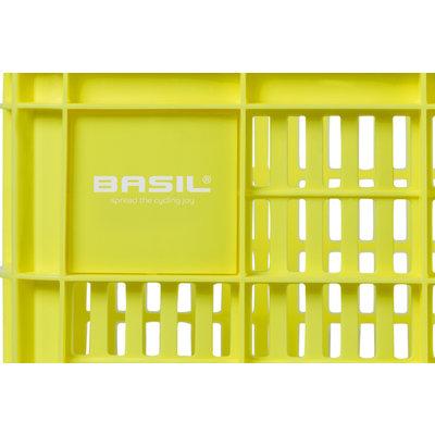 Basil Crate S - bicycle crate -  25 liter - lemon