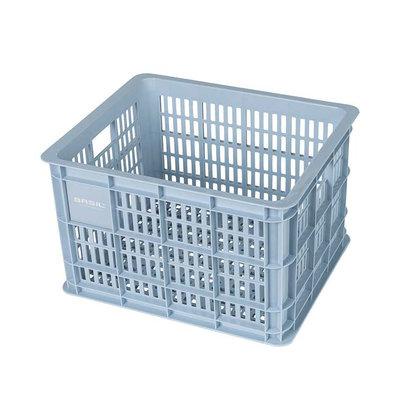 Basil Crate M - fietskrat -  33 liter - silver cloud