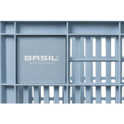 Basil Crate M - Fahrradkiste -  33 Liter - silver cloud