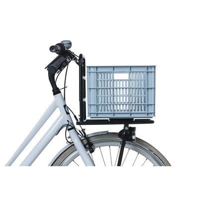 Basil Crate M - bicycle crate -  33 liter - silver cloud