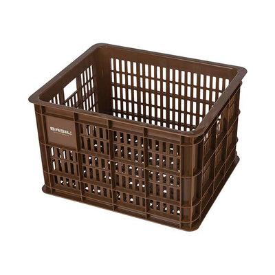Basil Crate M - Fahrradkiste -  33 Liter - saddle brown