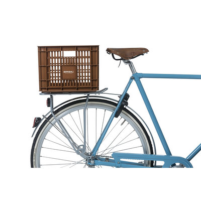 Basil Crate M - fietskrat -  33 liter - saddle brown