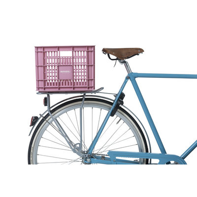 Basil Crate M - bicycle crate -  33 liter - faded blossom