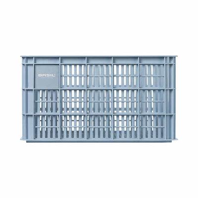 Basil Crate L - fietskrat -  50 liter - silver cloud