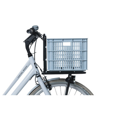 Basil Crate L - Fahrradkiste -  50 Liter - silver cloud