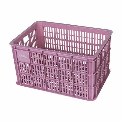 Basil Crate L - fietskrat -  50 liter - faded blossom