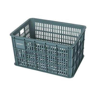 Basil Crate L - Fahrradkiste -  50 Liter - seagrass