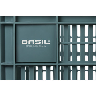 Basil Crate L - bicycle crate -  50 liter - seagrass