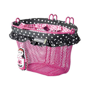 Basil Jasmin - Kinderfahrradkorb - vorne oder hinten - rosa