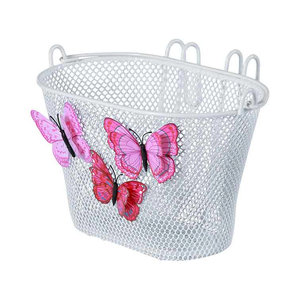 Basil Jasmin Butterfly - junior bicycle basket - front or rear - white