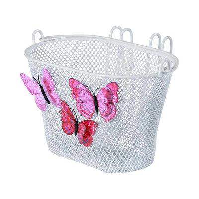 Basil Jasmin Butterfly - kinderfietsmand -  voorop of achterop - wit