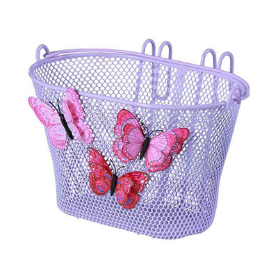 Basil Jasmin Butterfly - junior bicycle basket - front or rear - lila