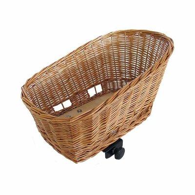 Basil Pasja - dog bicycle basket -  medium - 45 cm - rear -natural