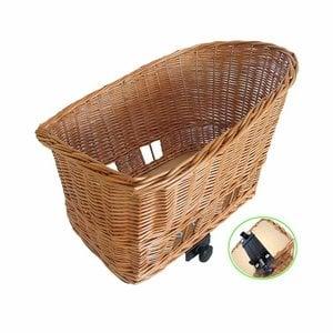 Pasja L - dog bicycle basket – natural