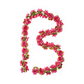 Flower Garland - fuchsia