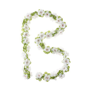 Basil Flower Garland - white