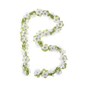 Basil Roses Garland - bloemenstreng - wit