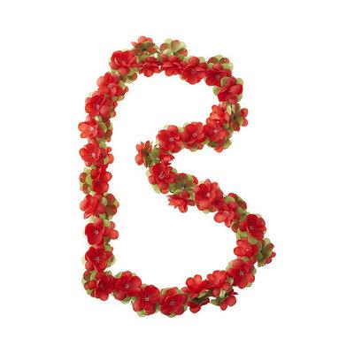 Basil Flower Garland - Blumengirlande - rot
