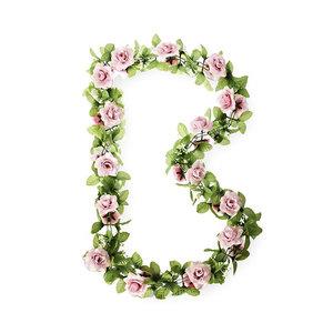 Basil Roses Garland - pink