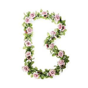 Roses Flower Garland - pink