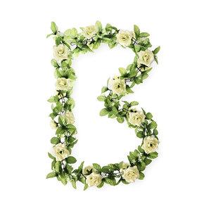 Basil Roses Flower Garland - white