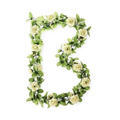 Basil Roses Flower Garland - Rosengirlande -  weiss