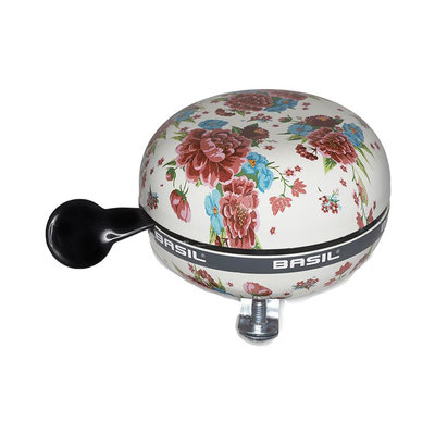 Basil Bloom - bicycle bell - 80 mm - white with flowers