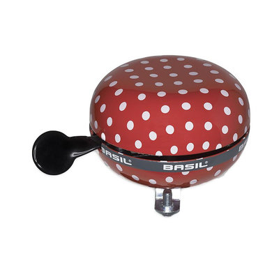 Basil Polkadot - bicycle bell - 80 mm - red / white