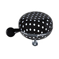Polkadot - bicycle bell - black / white