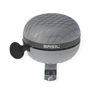 Basil Noir - bicycle bell - 60 mm - silver