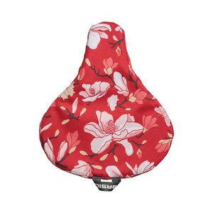 Basil Magnolia - saddle cover - red