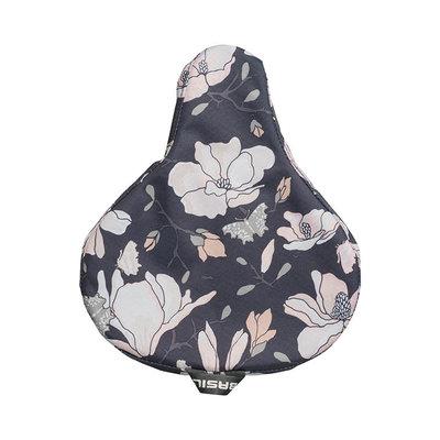 Basil Magnolia - saddle cover - dark blue