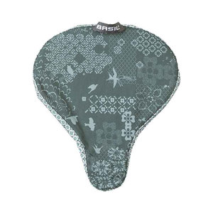 Basil Bohème - saddle cover - forest green