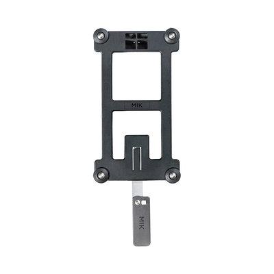 MIK - adapterplaat - zwart