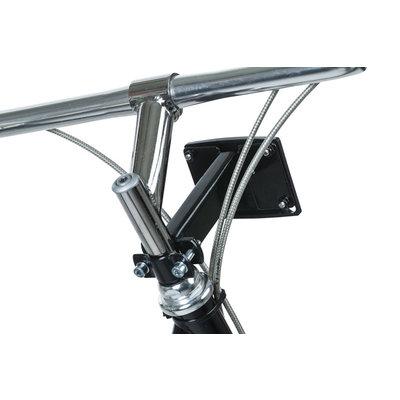 Basil Fixed Mounted - stem holder - black