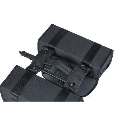 Basil Tour Waterproof - double pannier bag MIK - 28 litres - black