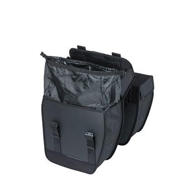 Basil Tour Waterproof - double pannier bag - 28 litres - black