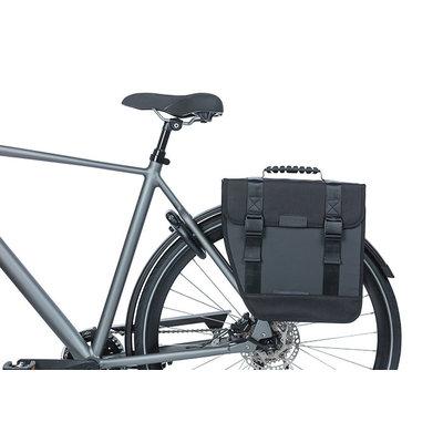 Basil Tour Waterproof Left - enkele fietstas - 14 liter - zwart