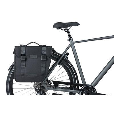 Basil Tour - double pannier bag MIK - 28 litres - black