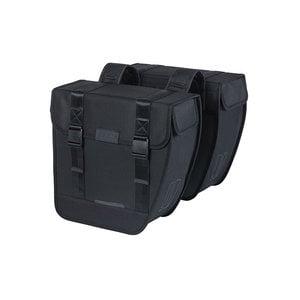 Tour - double pannier bag - black