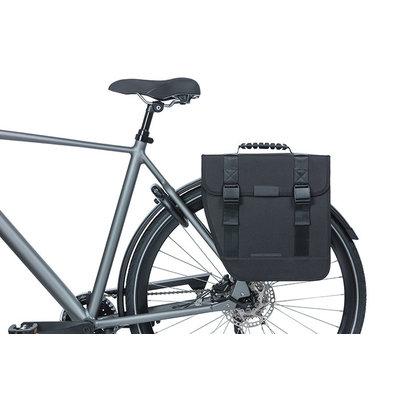 Basil Tour Left - enkele fietstas - 14 liter - zwart